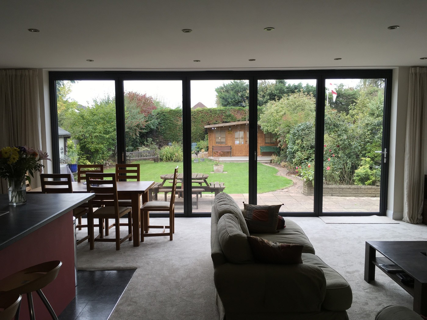 Bifold doors installed in Claygate from Hamilton Windows