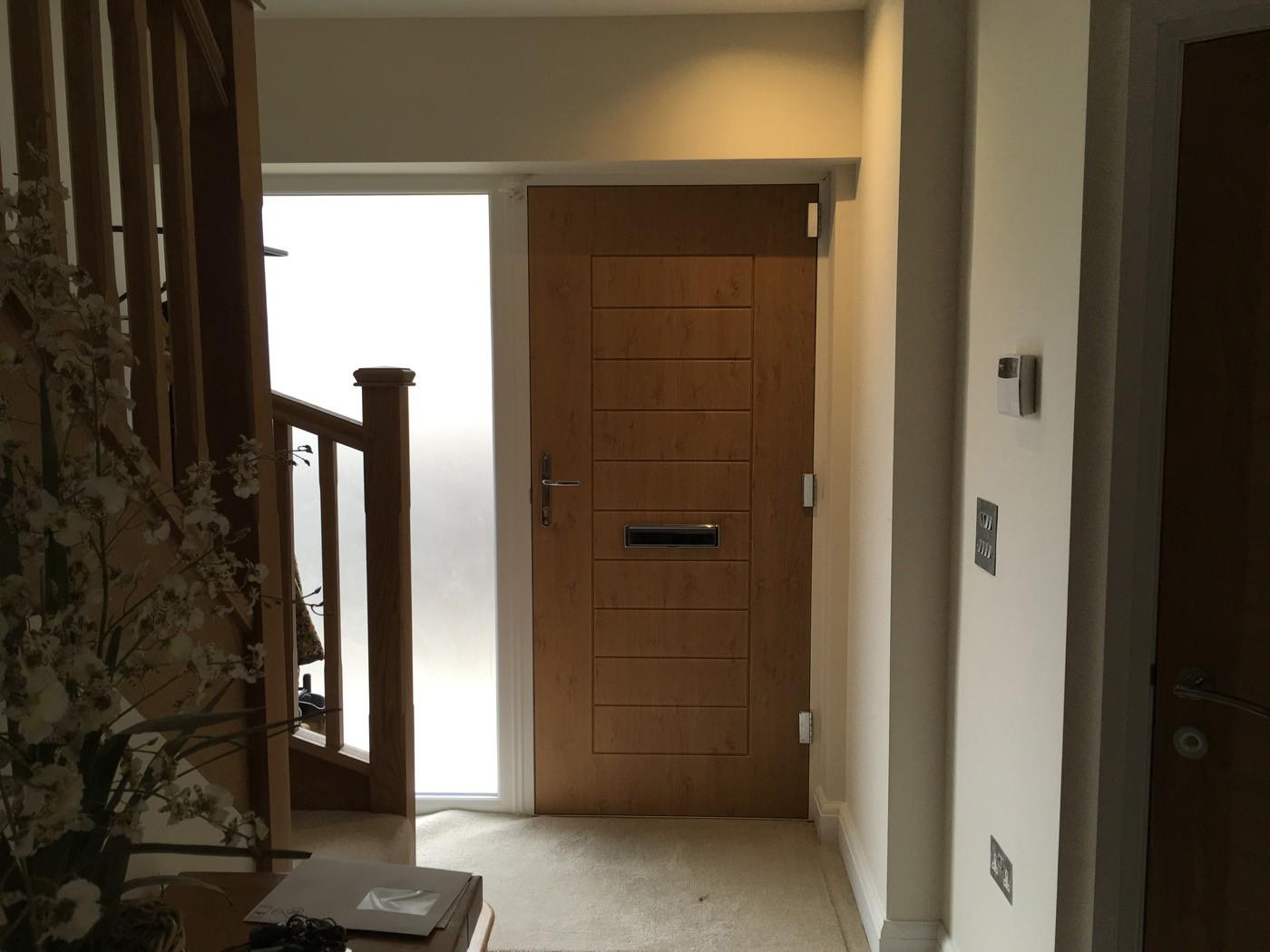 parkinson comp door 1 - Beautiful Bifolds & Composite Door in Claygate