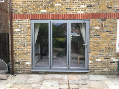 3 section, Origin bifold doors in Kingston from Hamiltons