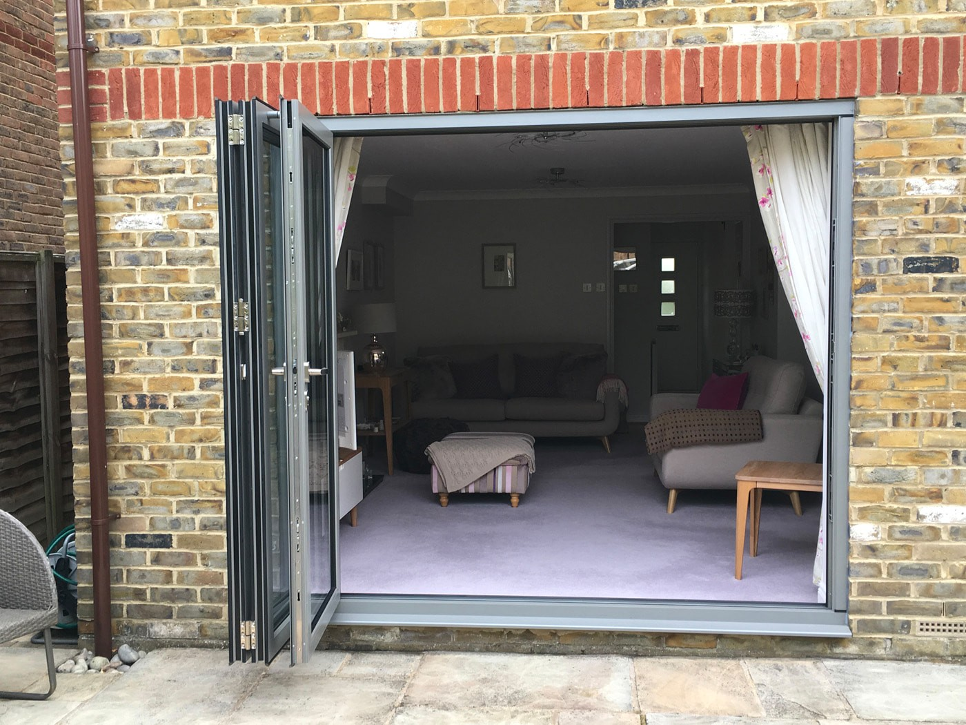 Hamiltons bifold installation team fitted Origin bifolds in Kingston