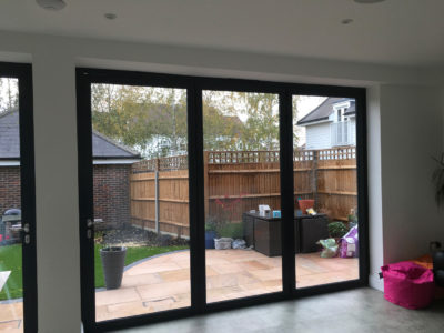 Origin bifold doors fitted in Worcester Park