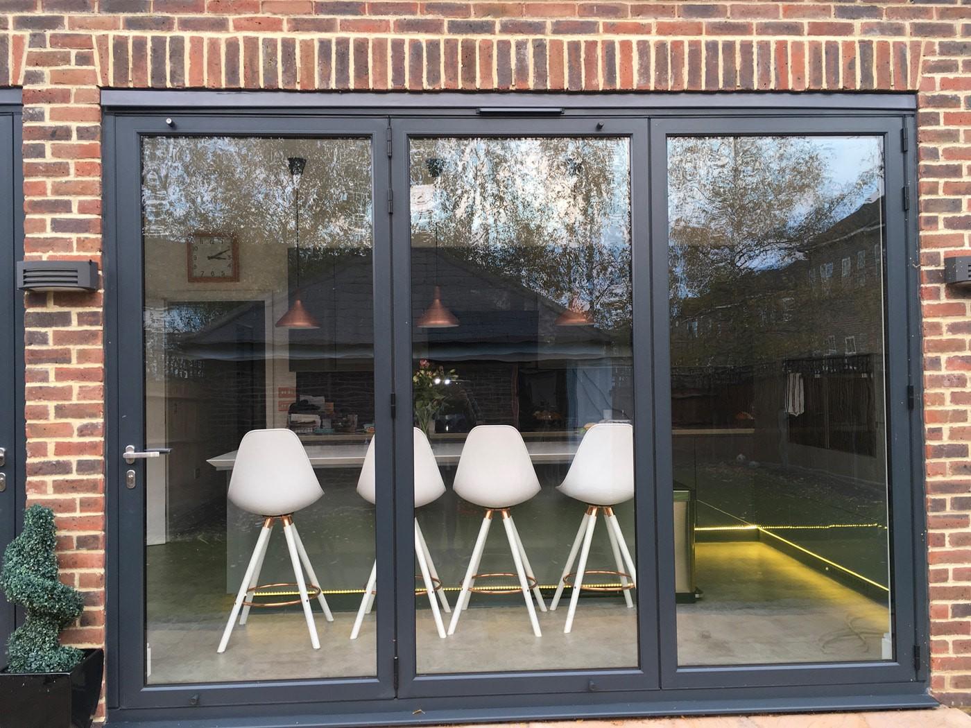 origin bifolds worcester park 08 - Kitchen Bifold Door Set in a Prestigious Development in Worcester Park