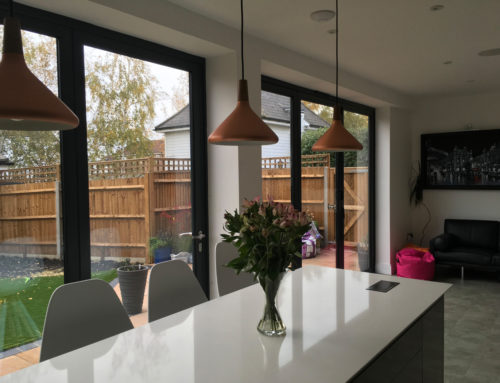 Kitchen Bifold Door Set in a Prestigious Development in Worcester Park