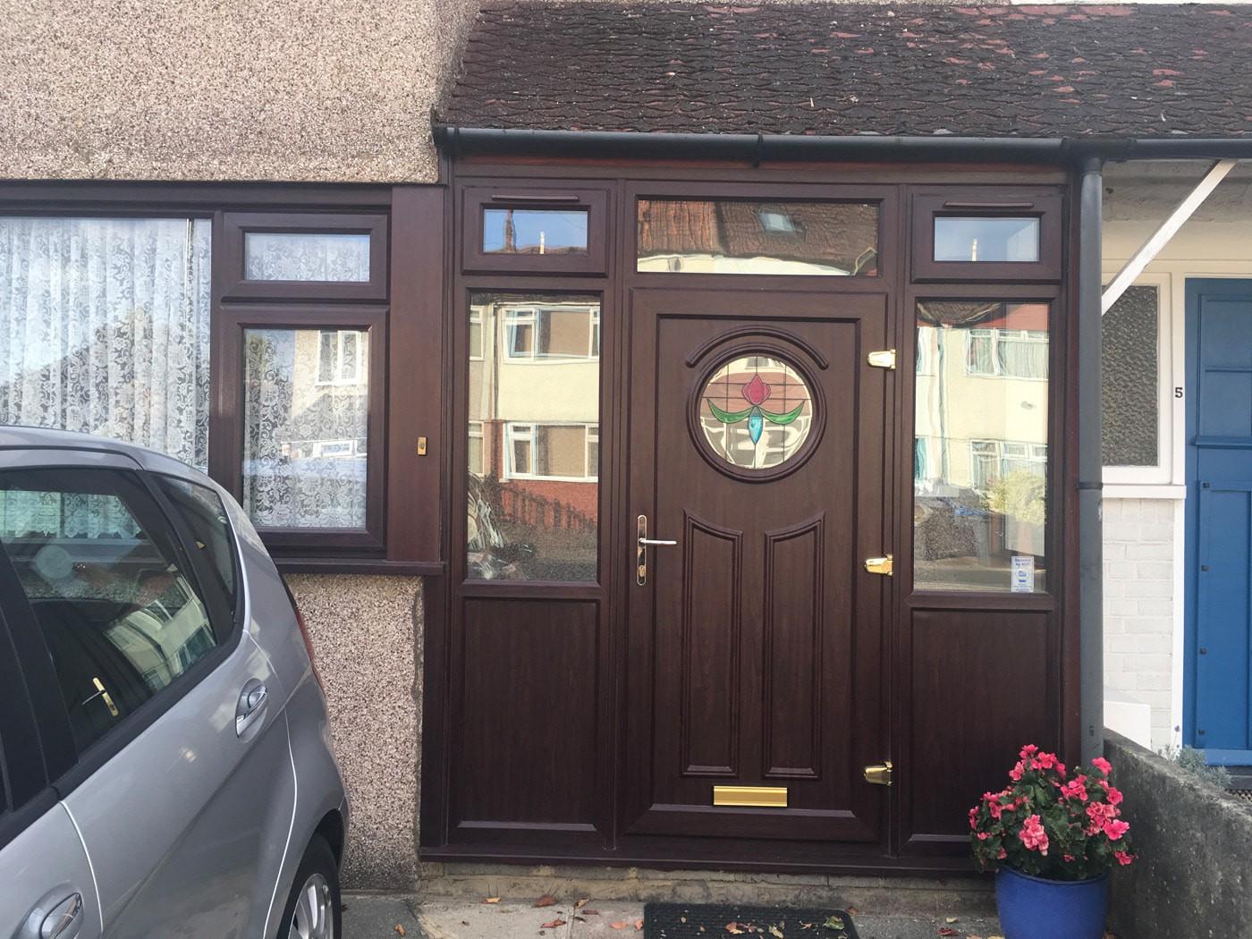 Woodgrain effect front door in Mitcham